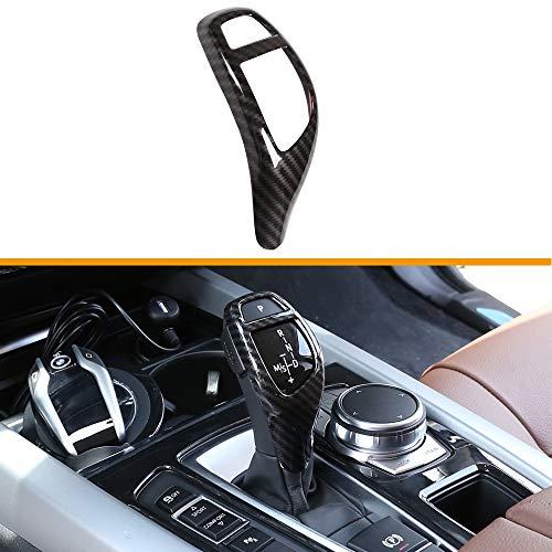 TulinTulin Carbon Fiber Printing Plastic Gear Shift Knob Cover Trim for BMW F20 F30 F31 F34 X5 F15 X6 F16 X3 F25 X4 F26 F10 (Style#2-Sports Type)