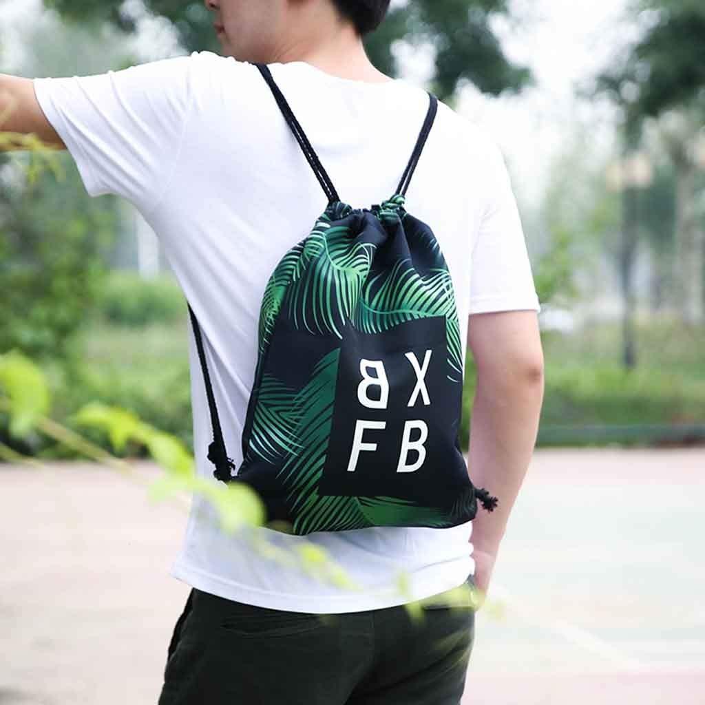 Backpack Fitness Bag Unisex Sports Bag Digital Printed Bouquet Pocket Beach Bag Backpack for Women Men Waterproof by Letdown (Image #3)