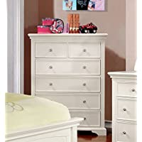 Furniture of America Maggie Transitional Youth Chest of Drawers, White