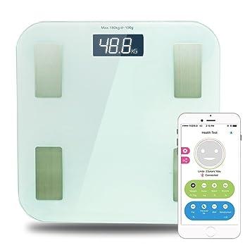 Smart Personen Waage Digitale, Gewicht Körper Fett BMI Analyse Mit APP,  Wireless Bluetooth Anschluss