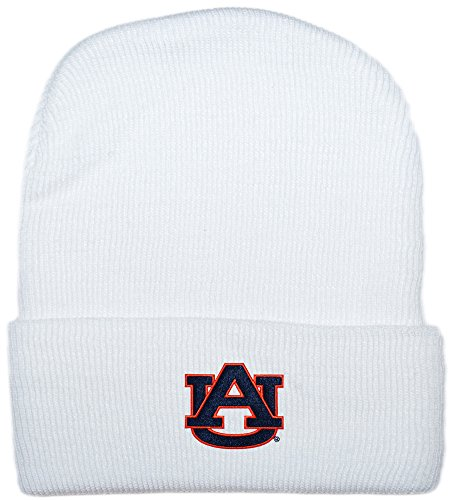 Auburn University Tigers Newborn Knit Cap, White, One Size