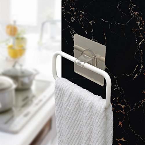 Inchant Strong Adhesive Towel Ring - Portable Non-track Sticker Plastic Towel Holder Hanger, Easy to install and Clean, Any Smooth Surface (Towel Plastic Ring)