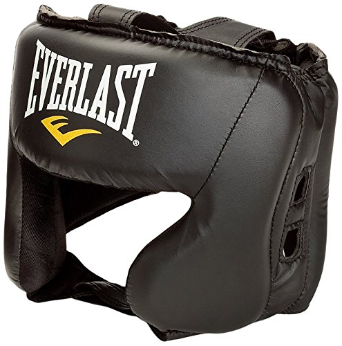 Everlast Headguard Unisex Black Adjustable Strap Boxing Sport Accessories by Everlast