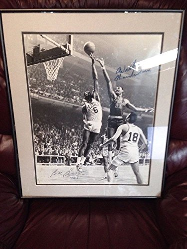 Wilt Chamberlain/Bill Russell Signed Picture JSA Authenticated - Bill Russell Signed Photograph