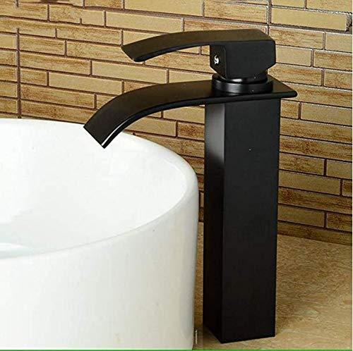 ETERNAL QUALITY Baño Lavabo Grifo latón mezcladora Grifo baño Grifo Mezclador Grifo Grifo Lavabo Blanco Negro Pintura Grifo Lavabo vanidad Cae Completo Grifo fría y Calie Suministros de limpieza y saneamiento Grifos de lavabo