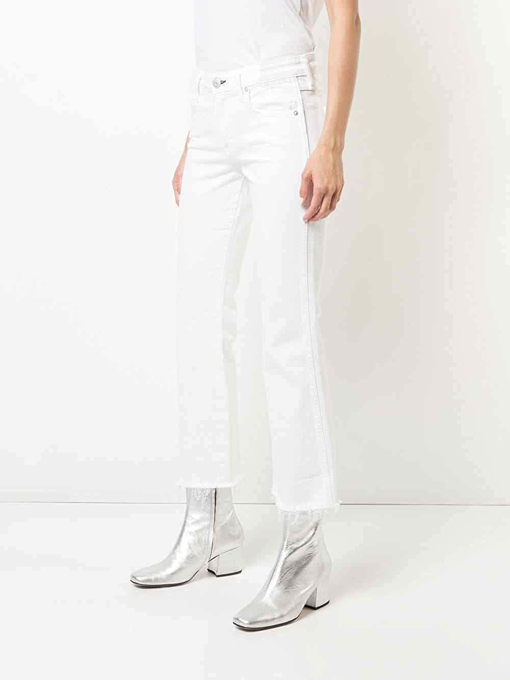NWT Anthropologie AMO Mid-Rise Cropped Flare Jeans Sz 29