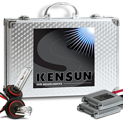 HID Xenon Headlight Conversion Kit by Kensun, 9006, 10000K - 2 Year Warranty - 9006 Headlight Bulbs 10000k