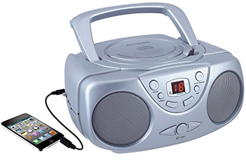 Sylvania SRCD243 Portable CD Player with AM/FM Radio, Boombox (Tone Blaster Amp)