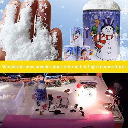 Bianco vetrine Neve gaeruite 100/g Polvere di Neve Artificiale per Decorazione di Natale
