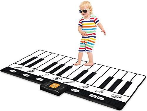 Play22 Keyboard Playmat 71″ – 24 Keys Piano Play Mat – Piano Mat has Record, Playback, Demo, Play, Adjustable Vol. – Best Keyboard Piano Gift for Boys & Girls – Original