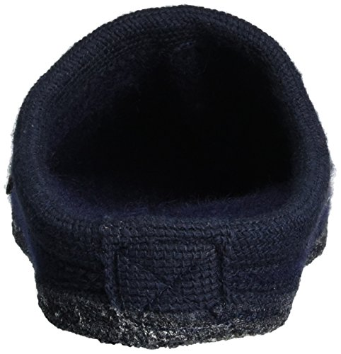 Haflinger Unisex Adults' Walktoffel Geo Open Back Slippers Blue (Ocean 76) F6k0weP3Q