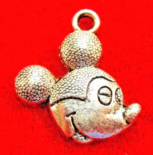 25 PC Tibetan Silver Mickey Mouse Charms - from Jewelry Making Supply Charms Wholesale by Wholesale ()