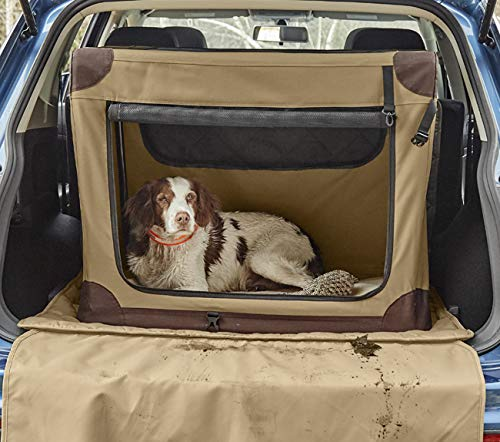 Orvis Hose-Off Folding Travel Crate/Small Dogs Up to 40 Lbs, Khaki, Small