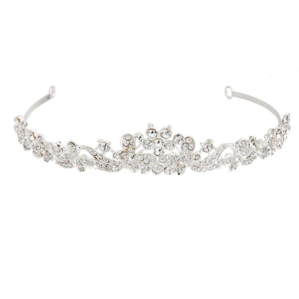 Elegant Wedding Prom Rhinestone Crystal Flower Headband Tiara Headpiece Generic STK0156002025