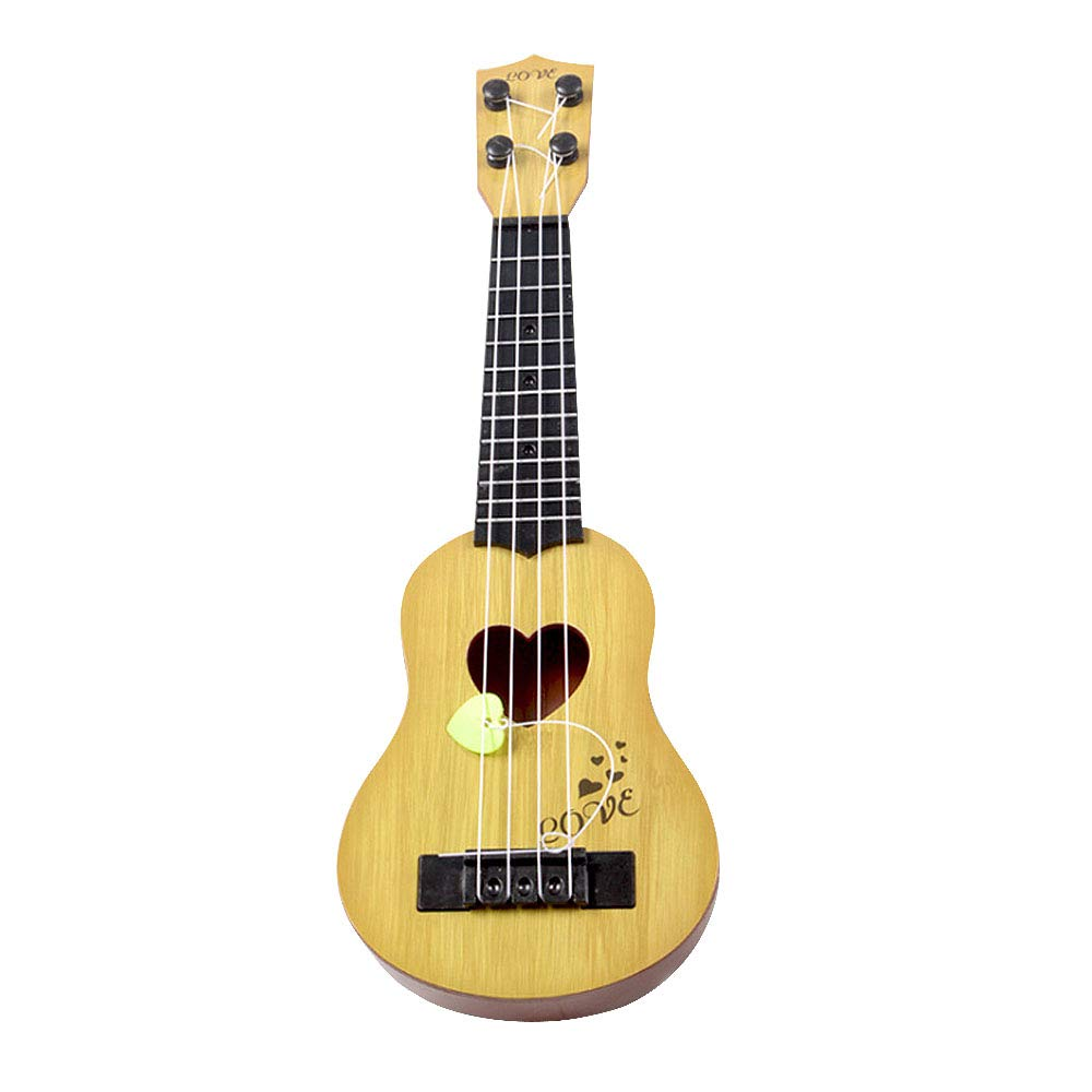 ADSRO Plastic Children's Guitar Instruments Traditional Soprano Ukulele 4 Strings Music Plastic Toys Early Education Exquisite Toys Gifts by ADSRO