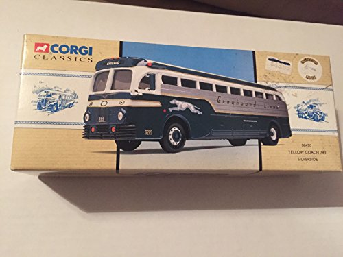 Corgi Classics Yellow Coach Silverside Greyhound Bus (Greyhound Bus Model compare prices)