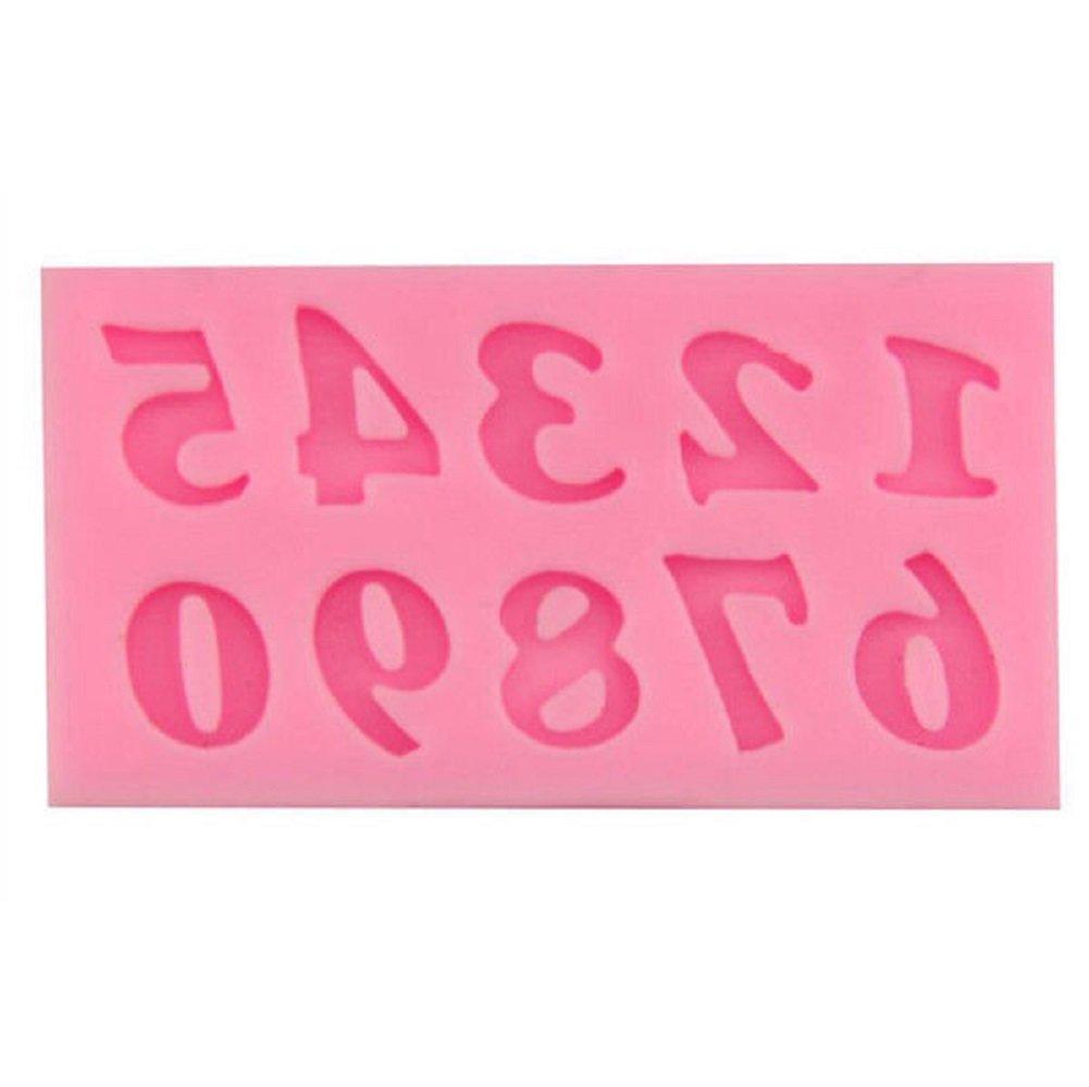 Decoración de Pasteles letras, alfabeto número plantillas cumpleaños boda decoración forma y Bake molde de silicona para manualidades, 3 pcs: Amazon.es: ...