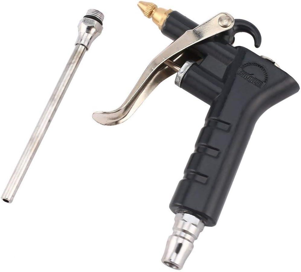 Formulaioue Metal Aluminio Limpiador de Alta presión Neumático Aire Que sopla Pistola de Polvo Fuerte Viento Potente Air Duster Aire Que sopla Pistola-Negro