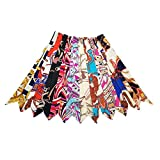 10pcs Fashion Bag Twilly Handbag Handle Ribbon Scarf Package Band Hair Head