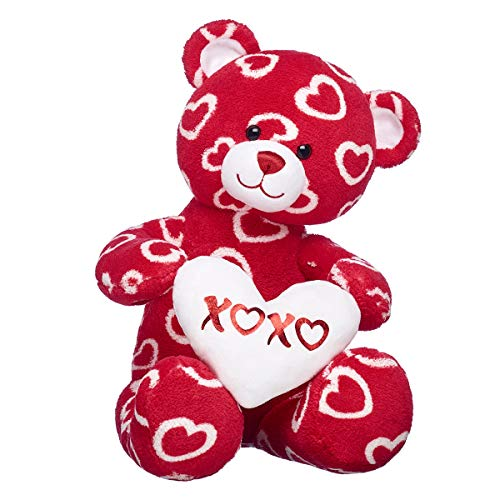 (Build A Bear Workshop Amazon Exclusive Hearts 'n' Hugs Red & White Teddy Bear Gift Set)