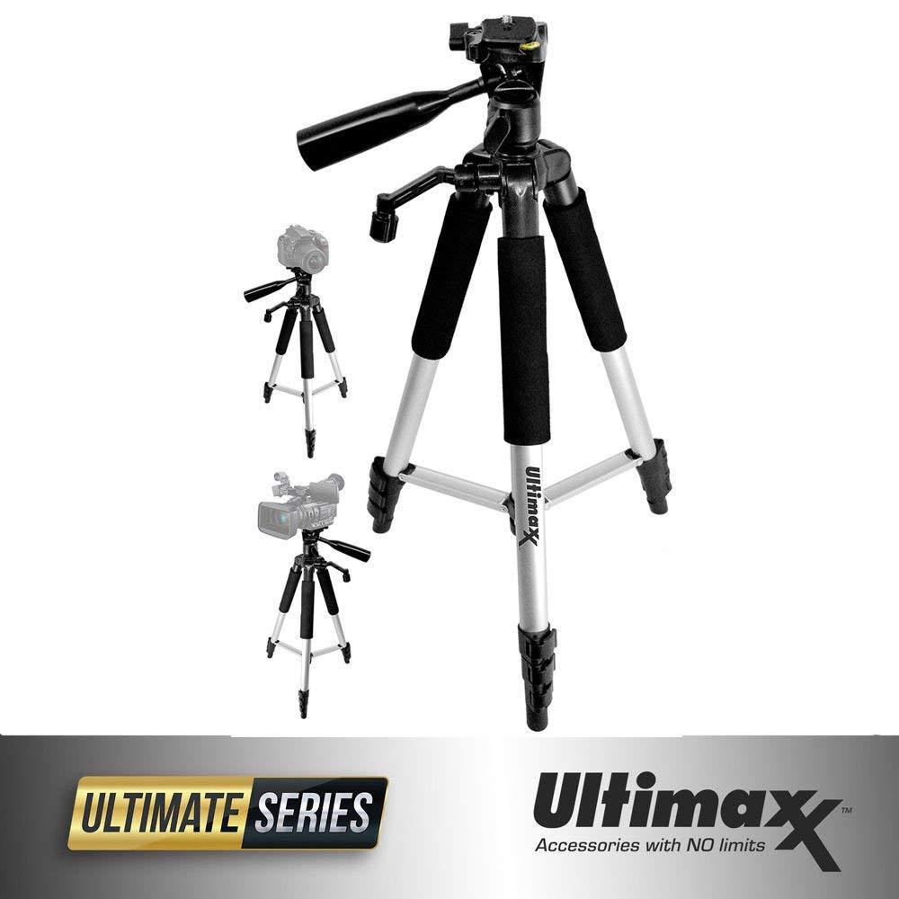 【限定セール!】 Ultimaxx 57インチ 軽量ポータブルカメラ三脚スタンド B07PP92VBX Ultimaxx キャリーバッグ付き すべてのデジタル一眼レフカメラとビデオカメラ用 57インチ B07PP92VBX, アフロビート:0b12d60f --- martinemoeykens.com