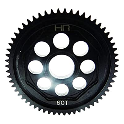 Hot Racing SOFE60M05 Steel 60t 0.5mod Spur Gear - 1/14 1/18 Losi Vaterra: Toys & Games