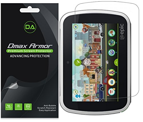 Dmax Armor  for LeapFrog Epic Screen Protector, Anti-Bubble