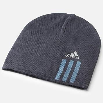 48272fb828d adidas Cr Essentials 3-Stripes Beanie Hat dark navy high steel E81822   Amazon.co.uk  Sports   Outdoors
