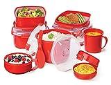 Sistema Microwave Rice Steamer - 2.6 L, Red/Clear Bild 6