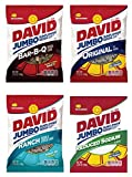 David Sunflower Seeds 4 Pack Variety Flavors (5.25 Ounce each) Including Original, Bar-B-Q, Ranch and Reduced Sodium