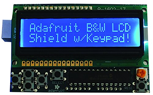 (Adafruit 772 LCD Shield Kit 16x2 Character Display - Uses only)