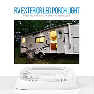 MICTUNING LED RV Porch Light, 10-24V 360 Lumen Exterior Utility Replacement Lighting (White, 2-Pack): Automotive