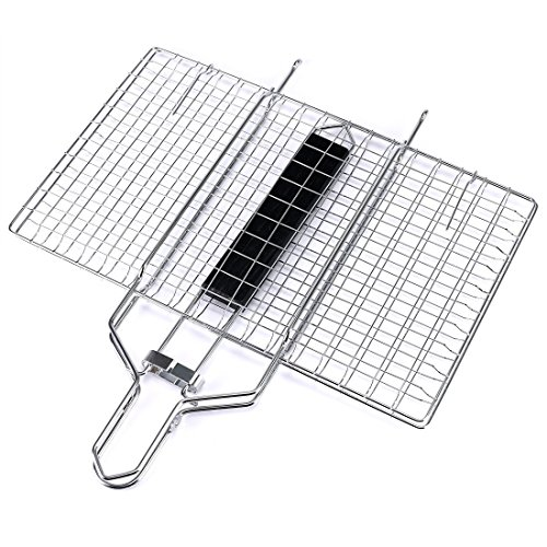 VINIKING Portable Stainless Steel Grill Baskets with Removable Wooden Handle, Perfect BBQ Grilling Cookware for Indoor and Outdoor Cooking by VINIKING (Image #6)