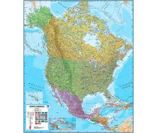 (North America Laminated Wall Map)
