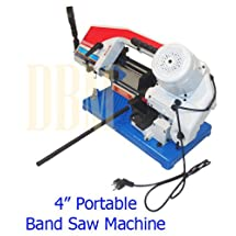"""1/2 HP Portable 4'' x 6"""" Metal Cutting Cutter Band Saw Round Square Rod 1430 RPM"""