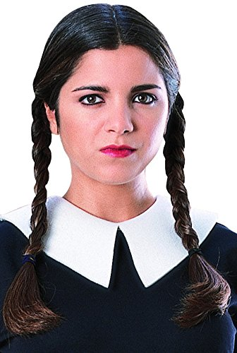 Rubie's Costume The Family Wednesday Addams Wig, Black, One Size (Wednesday Addams Wigs)