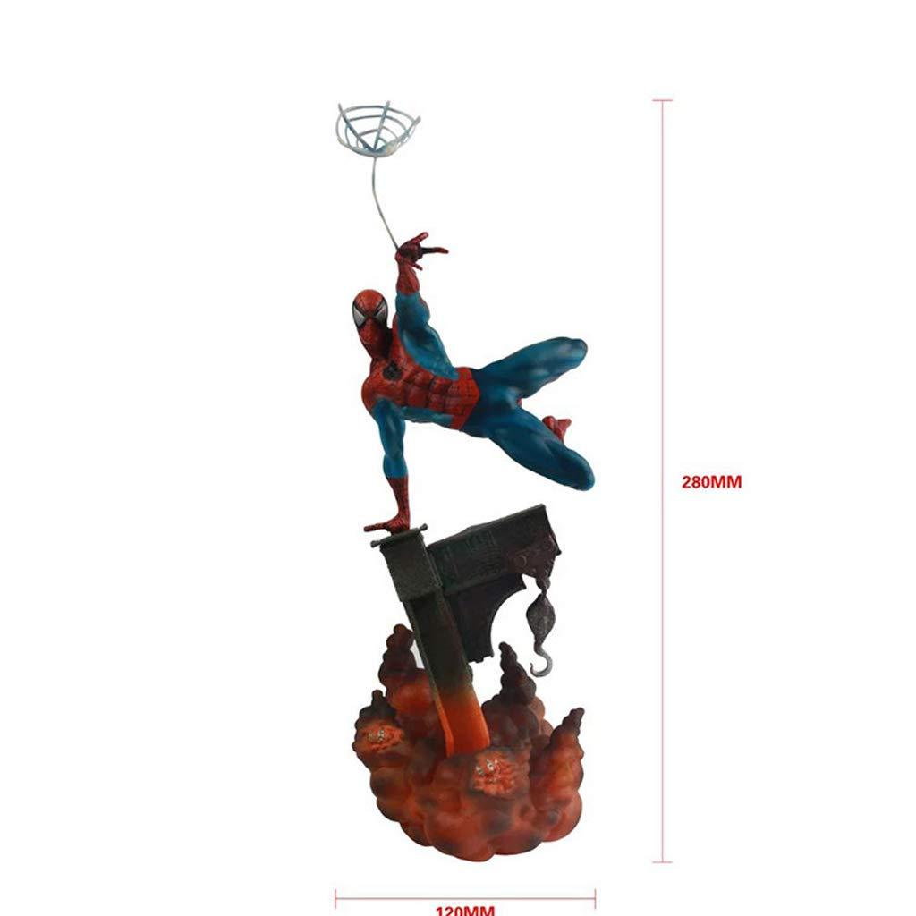 soporte minorista mayorista NYDZDM NYDZDM NYDZDM Modelo de juguete Manualidades Vengadores Escena de Hombre araña Negro Escena de Hombre araña Rojo Modelo de Juguete de Anime (Color : Red)  varios tamaños