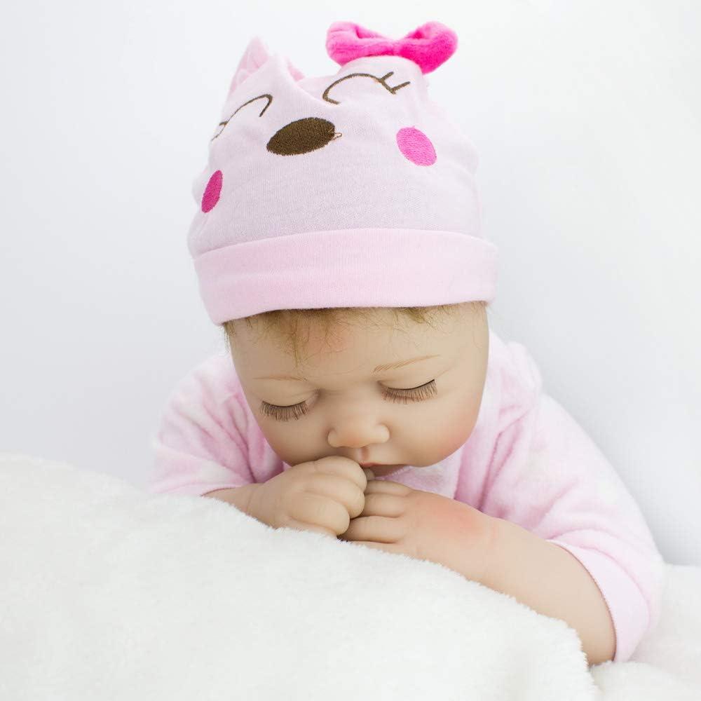 CHAREX Reborn Sleeping Baby Doll Soft Vinyl Lifelike Realistic 22 inch Weighted Newborn Dolls Gift Set