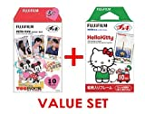 Fujifilm InstaX Mini Instant Film,- Hello Kitty & Mickey & Frends (newest Model) Film -10 Sheets X 2 Assort Value Set(with Our Shop Original Description of Goods)