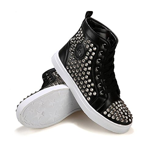 Hip Top hop Shoes Sneaker Kivors Anti Rivet Lace Men's High skid up Casual Black Fashion IfwFqUX