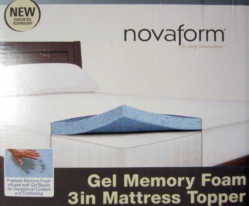 (Novaform Gel Memory Foam 3 Inch Mattress Topper-Twin Size)