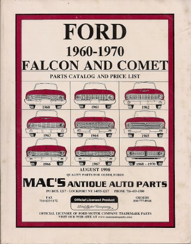 - Mac's Antique Auto Parts Catalog - August 1998 (FORD 1960-1970 Falcon and Comet)