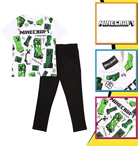 Minecraft glitching Enredadera Chicos Larga Pijamas Set | mercancía Oficial | Regalos PS4 PS5 del Jugador de Xbox, los Chicos del Colegio Pijamas, ...