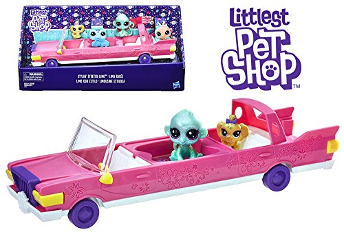 Stylin Stretch Limo with Golda Maltesy & Shimmer Monkeyton Exclusive Littlest Pet Shop Pets 2