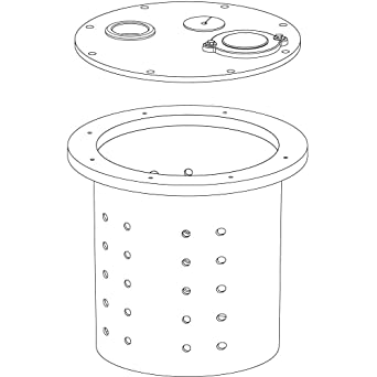 K001308 Crawl Space Sump Basin and Cover for 10V132 for CSP-237 Liberty Pumps
