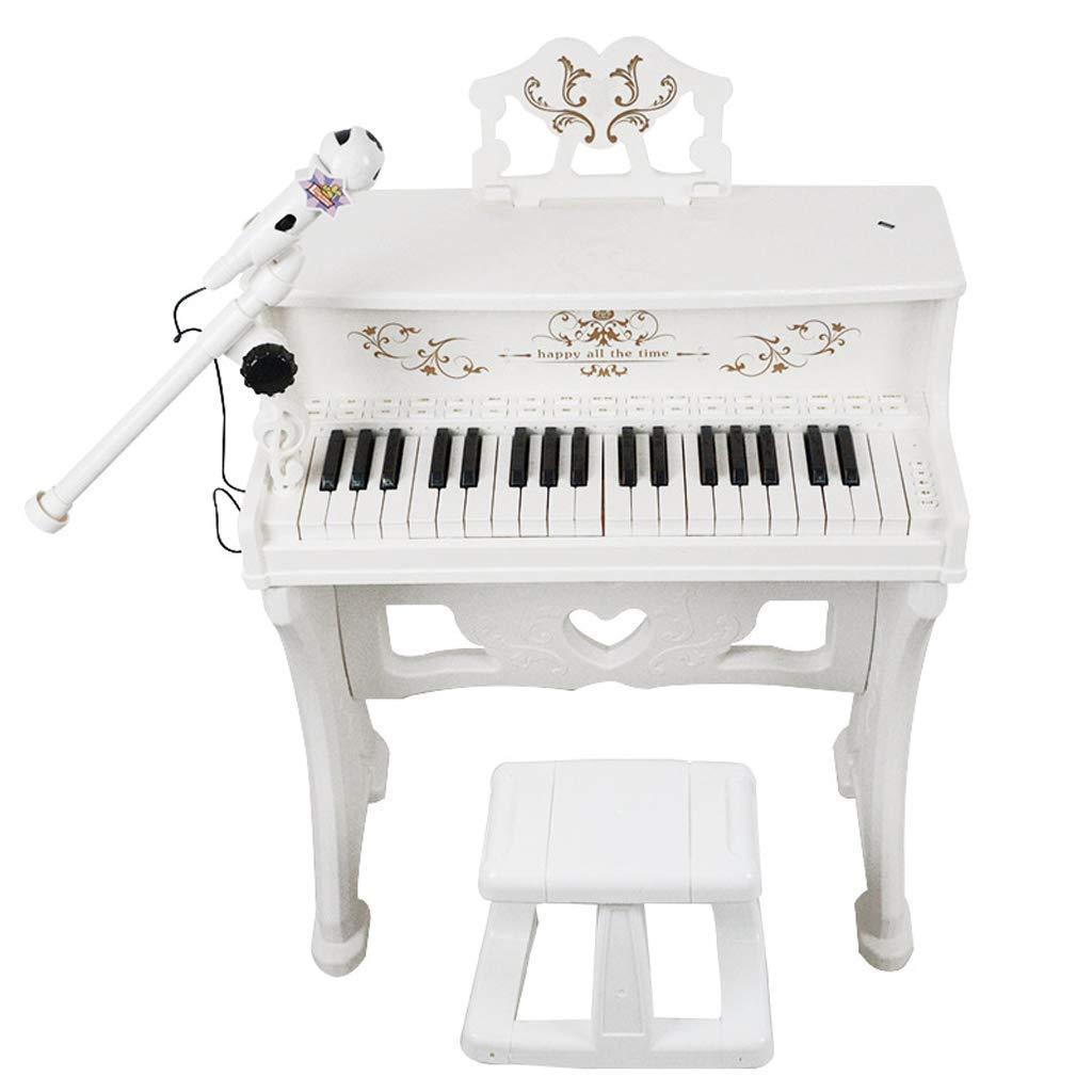Weihuiwangluo 音楽マイクミニで最高の選択子供のキーボード教育 (Color : 白)  白 B07SBSBD5S