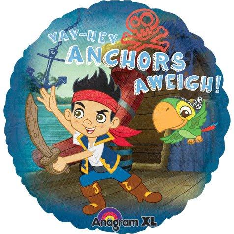 Anagram International Jake Neverland Pirates Foil Balloon Pack, 18