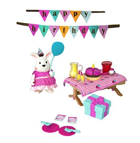Li'l Woodzeez 30-Piece Birthday Party Playset for Ages 3 and Up