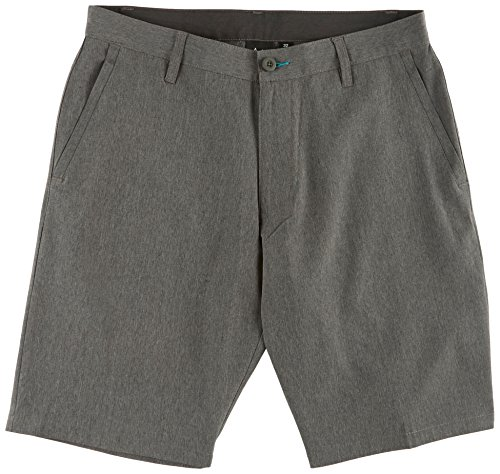 Burnside Men's World Core II Stretch Hybrid Quick Drying Modern Fit Short, Charcoal 18, (Gray Hybrid)