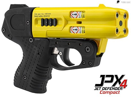 4 Shot Compact Pepper Spray Gun Yellow by Piexon